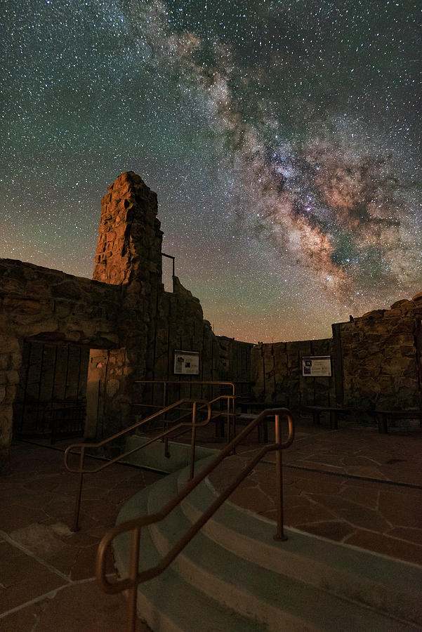 Milky Way Steps At The Crest House Ruins Photograph