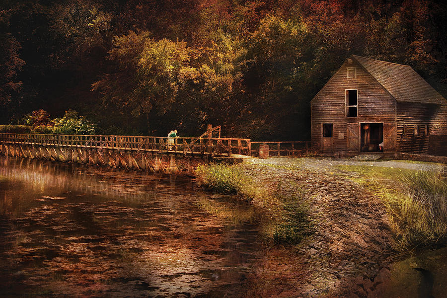 Savad Photograph - Mill - The Village Edge by Mike Savad