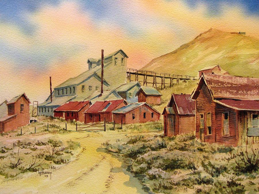 Ghost Town Painting - Mill Bodie Ghost Town California by Kevin Heaney