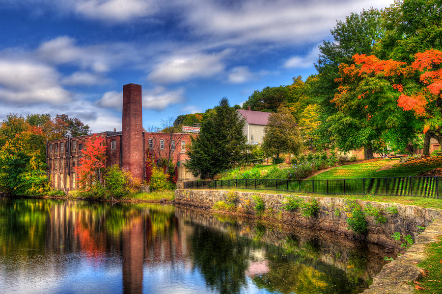 Laconia Photograph - Mill Building - Autumn In Laconia Nh by Joann Vitali