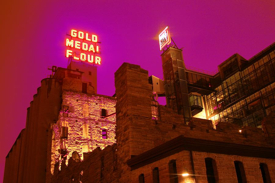 Minneapolis Photograph - Mill City At Night by Heidi Hermes