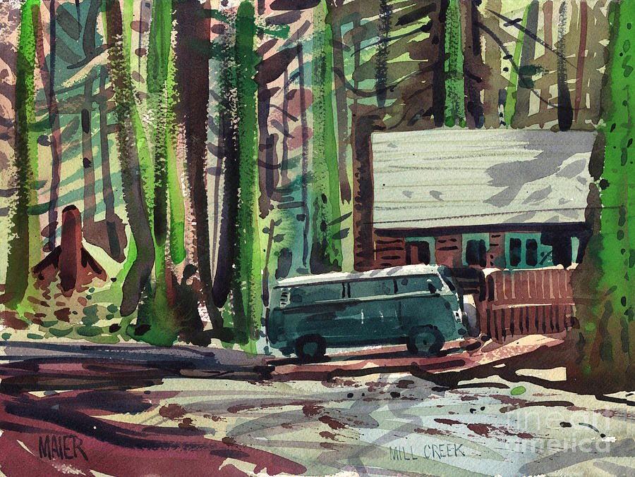 Mill Creek Painting - Mill Creek Camp by Donald Maier