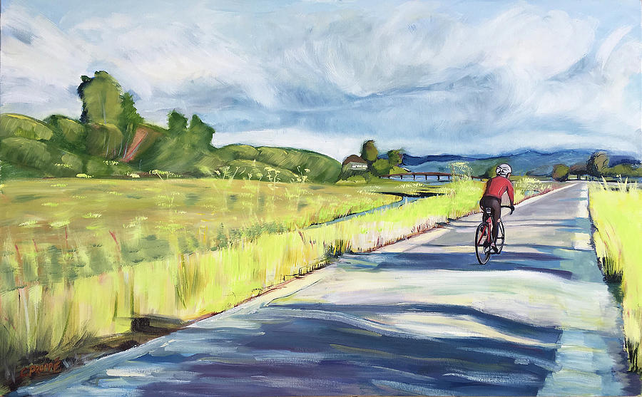 Bike Painting - Mill Valley Bike Path by Colleen Proppe