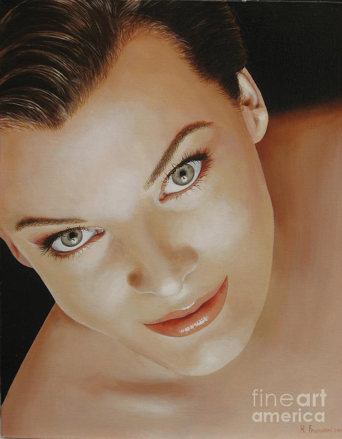 Portrait Painting - Milla Jovovich by Riccardo Franzoni