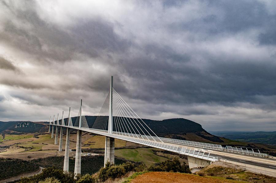 Europe Photograph - Millau Viaduct by Neil Alexander