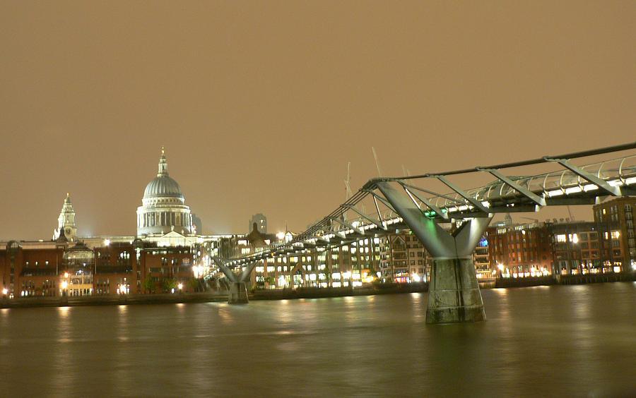 Millenium Bridge Photograph by Denitsa Mihaylova