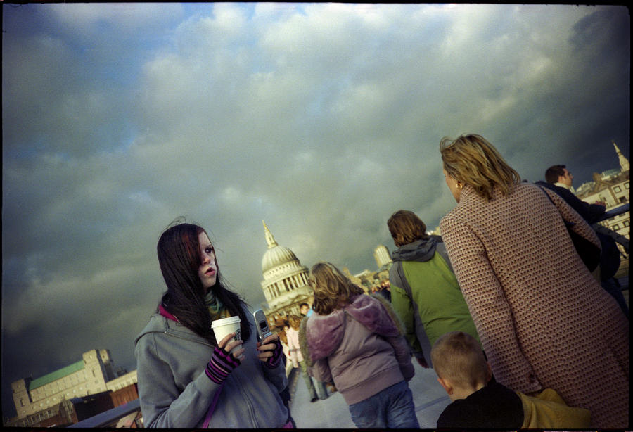 London Photograph - Millenium Bridge by Rafa Rivas