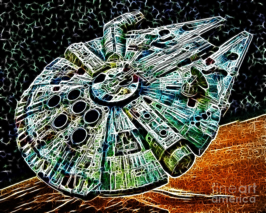 Han Solo Photograph - Millenium Falcon by Paul Ward