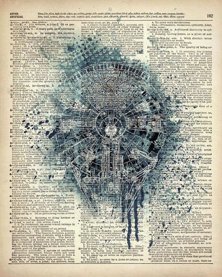 Art Print Painting - Millennium Falcon by Art Popop