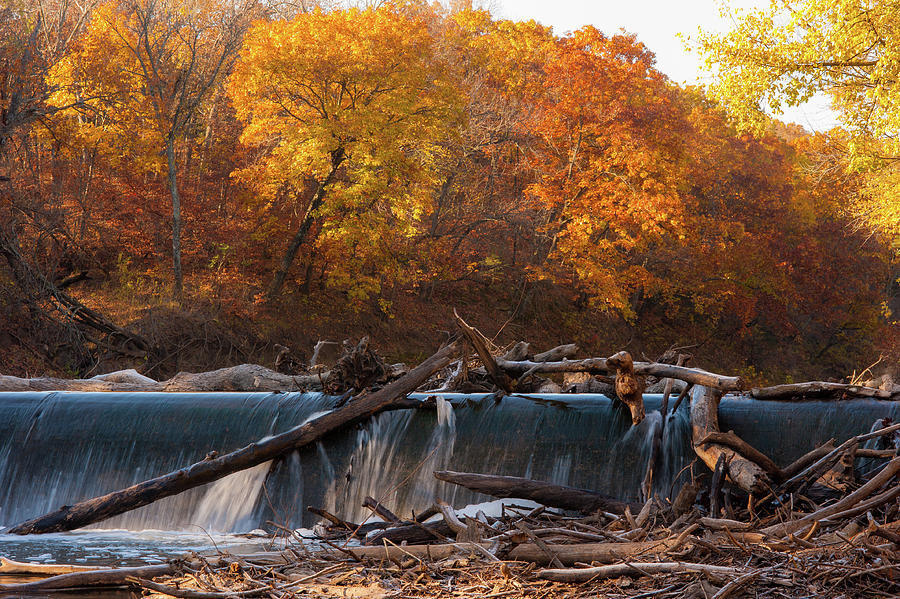 Fall Color Photograph - Millers Dam by Jeff Phillippi