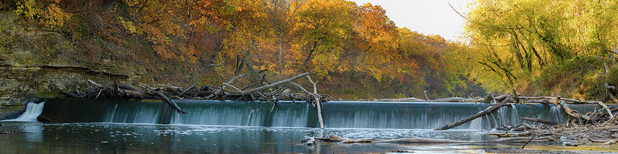 Fall Color Photograph - Millers Dam Pano by Jeff Phillippi