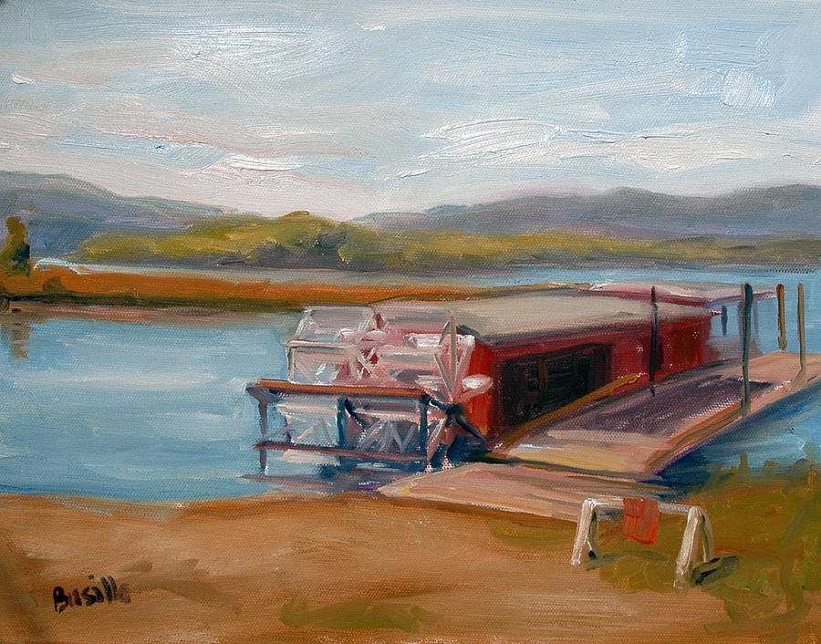 Susquehanna River Painting - Millersburg Ferry by Kathy Busillo