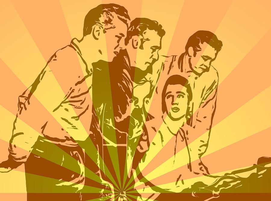Million Dollar Quartet Pop Art Mixed Media