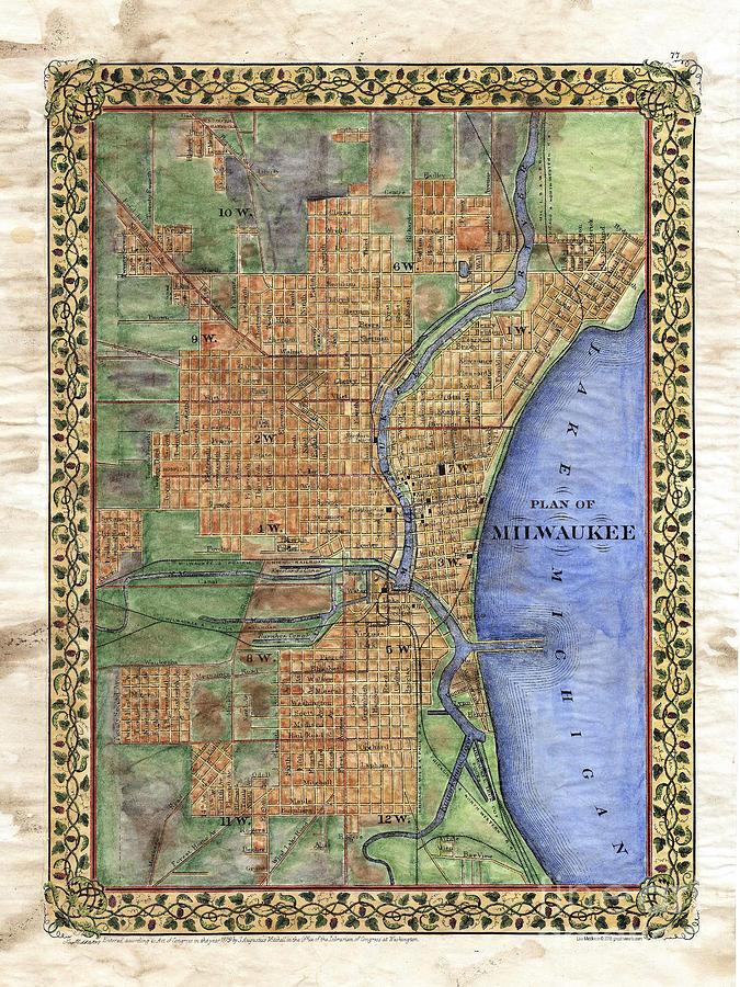 Milwaukee Art Milwaukee Map Milwaukee Great Lakes Hand