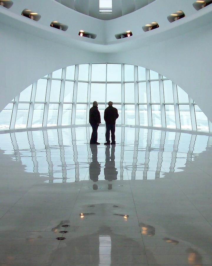 Milwaukee Photograph - Milwaukee Art Museum Shadows by Lauri Novak
