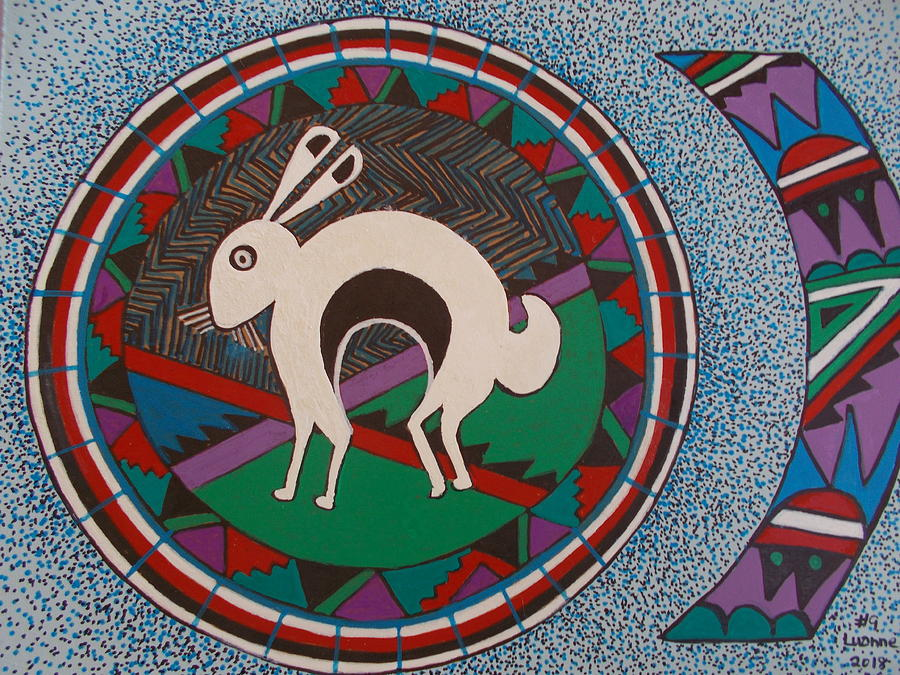 Mimbres Inspired #9a Painting by Luanne Brooten