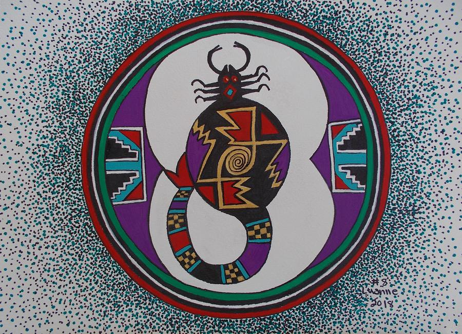 Mimbres Inspired #8a Painting by Luanne Brooten