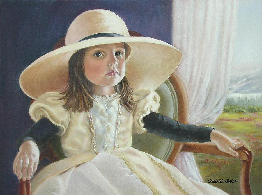 Portrait Painting - Mimis Hat by JoAnne Castelli-Castor