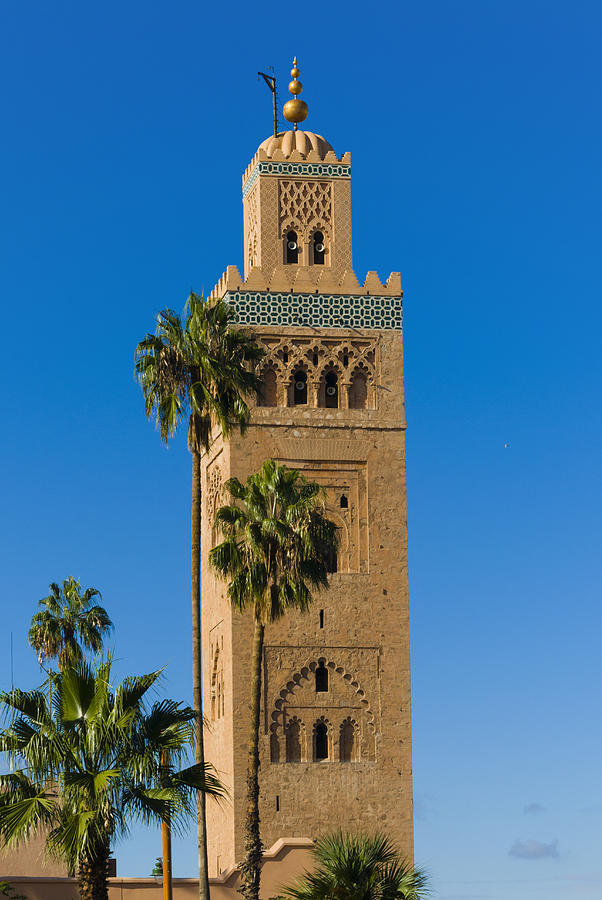 Vertical Photograph - Minaret Of The Koutoubia Mosque, Marrakesh by Nico Tondini