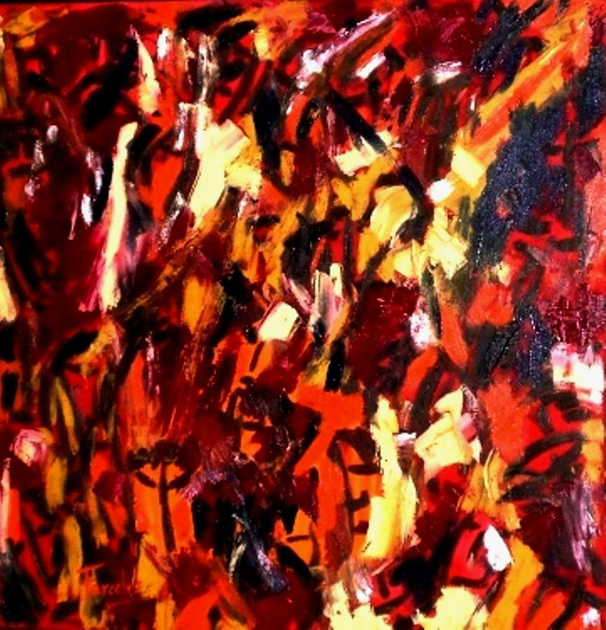 Abstract Painting - Mind Commotion  by Fareeha Khawaja