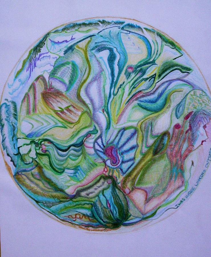 Abstract Drawing - Mind Mandala by Suzanne Udell Levinger