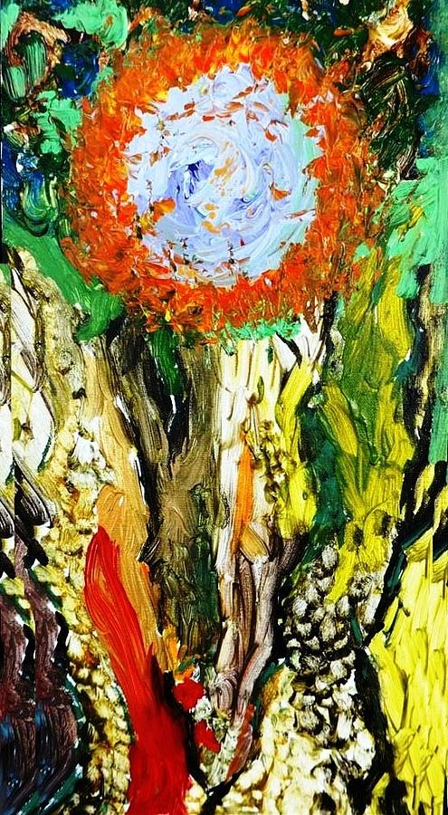 Tree Art Painting - Mind Of The Forest by Amy Drago