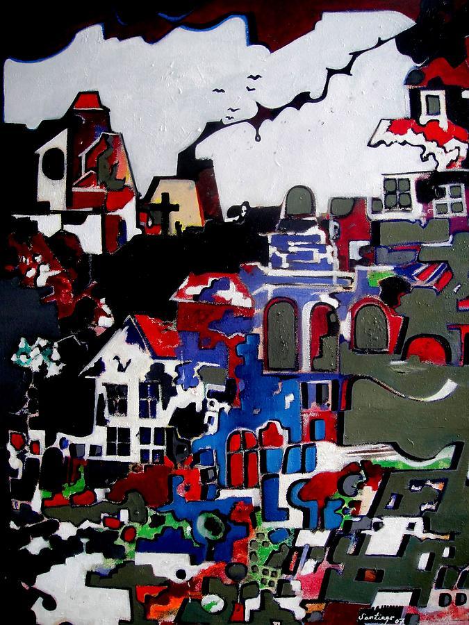 Mind Reconstructions Painting by Adalardo Nunciato  Santiago