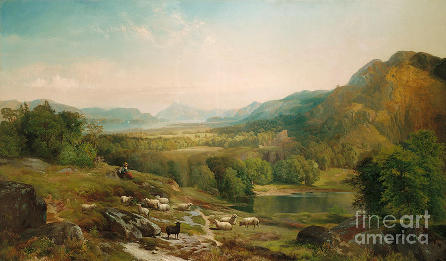 Thomas Moran Painting - Minding The Flock by Thomas Moran