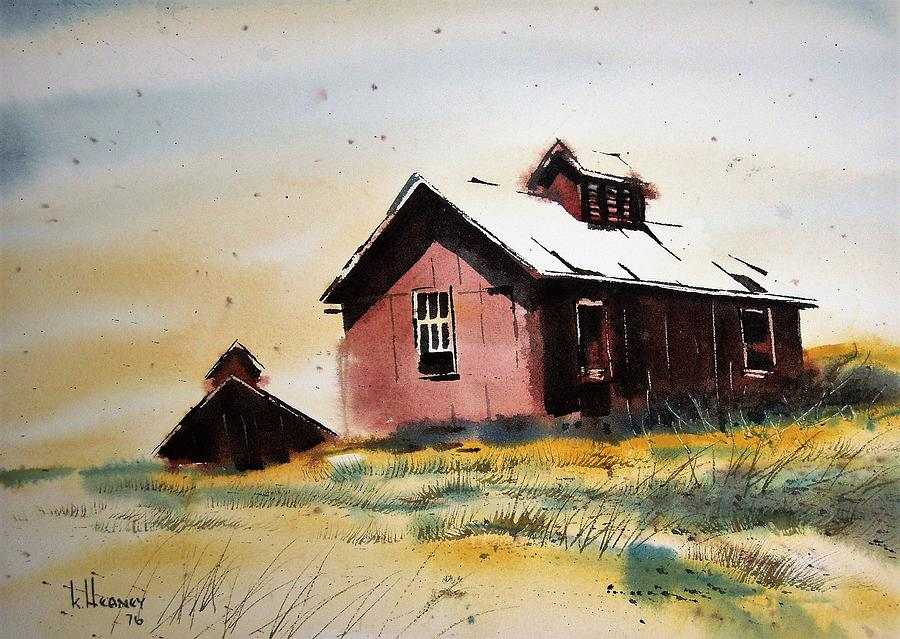 Ghost Town Painting - Mine Buildings Southern Cross Ghost Town Montana by Kevin Heaney