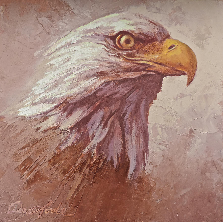 Eagle Painting - Mine Eyes Have Seen by Mia DeLode