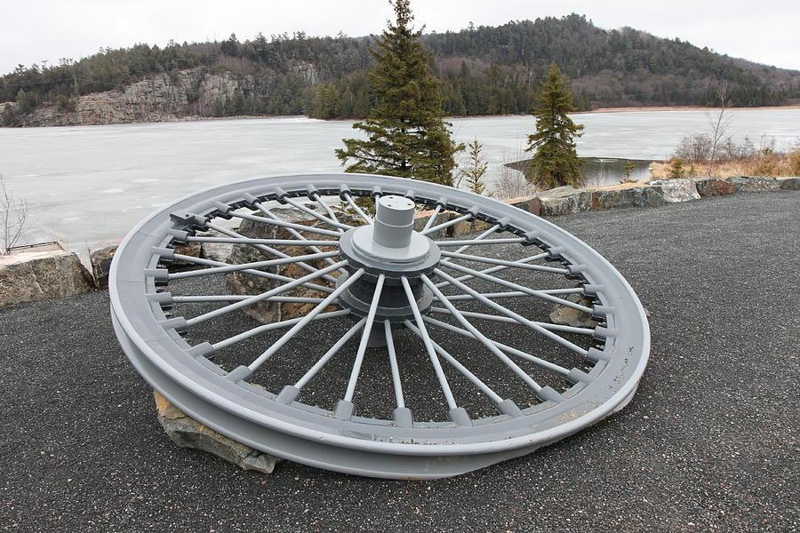 Wheel Photograph - Mine Shaft Wheel by Richard Mitchell