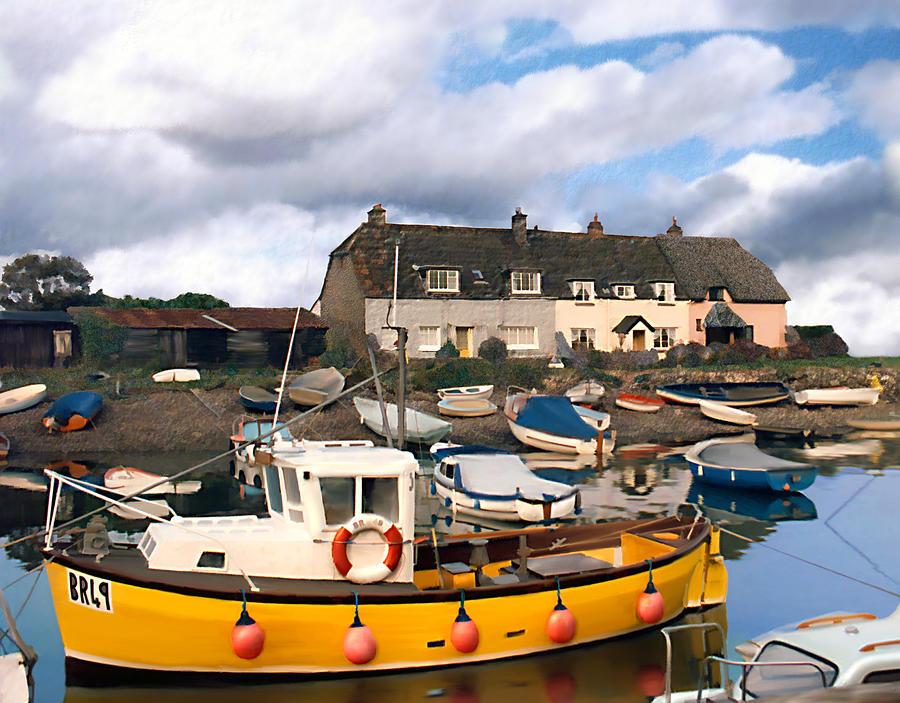 Harbor Photograph - Minehead Sommerset by Kurt Van Wagner