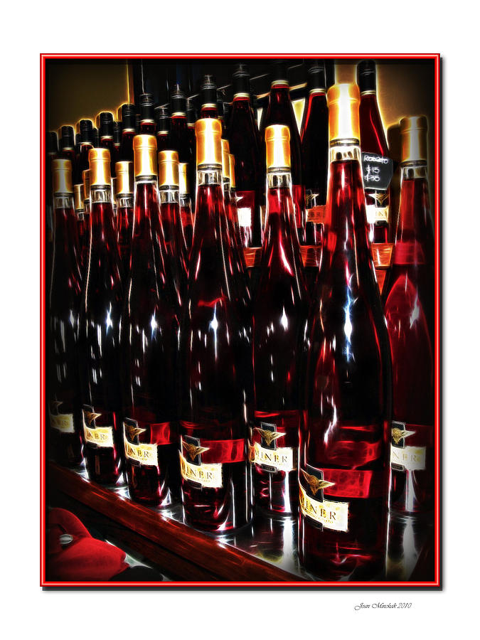 Miner Photograph - Miner Pink Sparkling Wine by Joan  Minchak