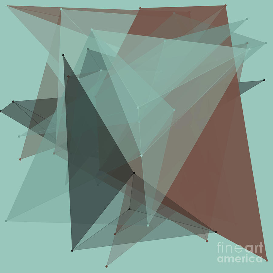 Abstract Digital Art - Mineral Polygon Pattern by Frank Ramspott