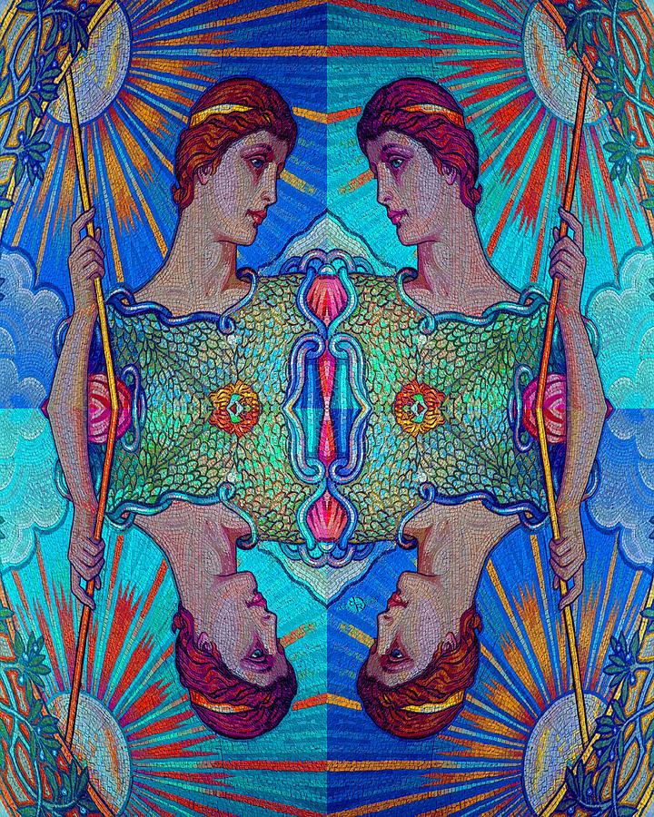 Minerva Goddess Of Wisdom Surreal Pop Art 1 Painting
