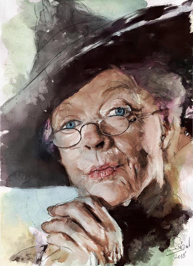 Minerva McGonagall Painting by Zsigmond Istvan
