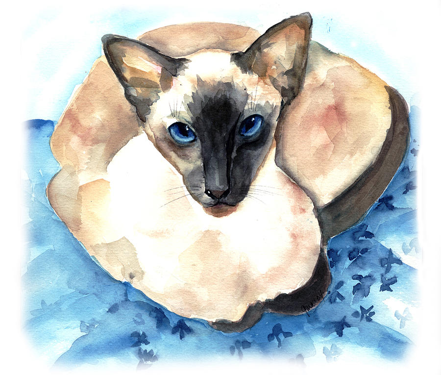 Feline Painting - Ming by Gina Hall