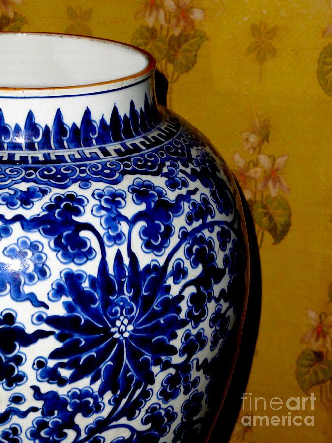 Canadian Photograph - Ming Vase by Al Bourassa