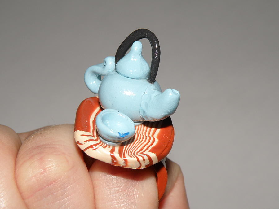 Tea Pot Jewelry - Mini Asian Tea Set Ring by Megan Brandl
