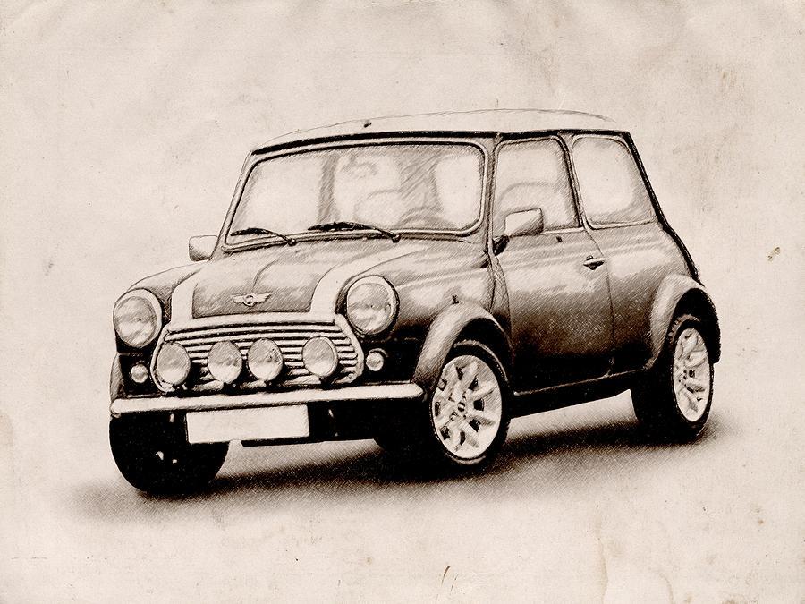 Mini Cooper Art идеи изображения автомобиля