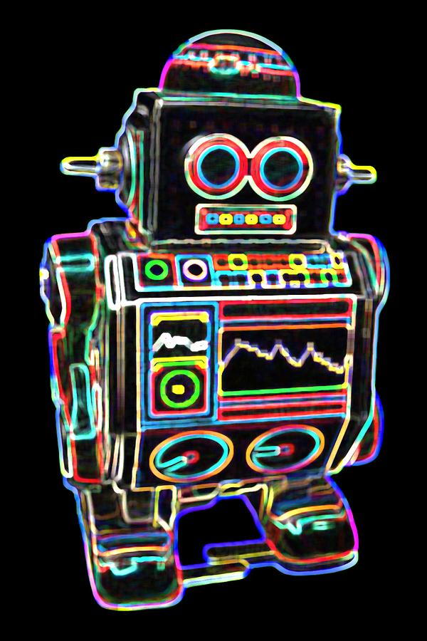 Robot Digital Art - Mini D Robot by DB Artist