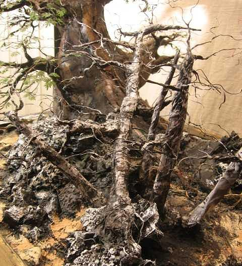 Mini Forest Sculpture - Recycled 3D Art - Image 6 Painting by Nelbert  Flores