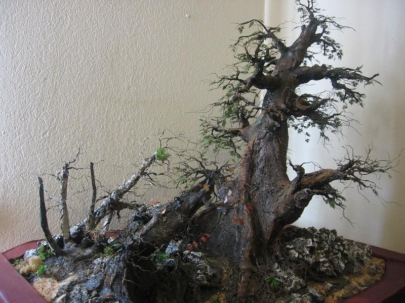 Mini Forest Sculpture - Recycled 3d Art Painting by Nelbert  Flores