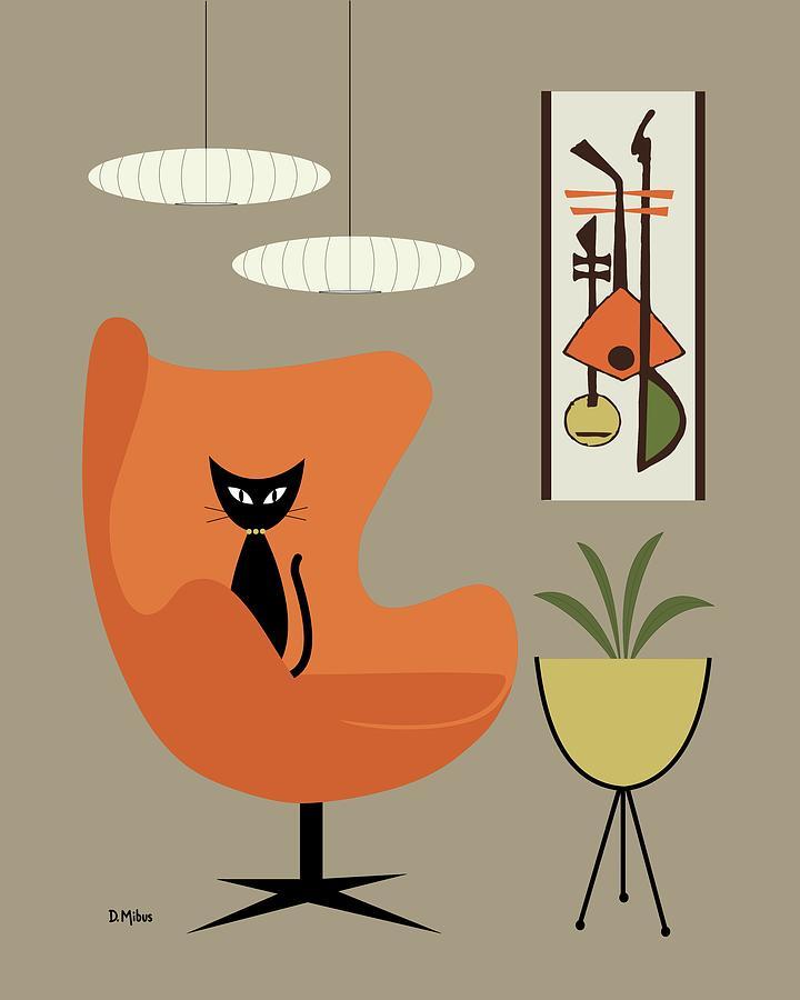 Egg Chair Digital Art - Mini Gravel Art 2 by Donna Mibus
