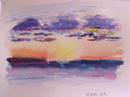 Sunrise Painting - Mini Maiami Series by Christine Bohrer