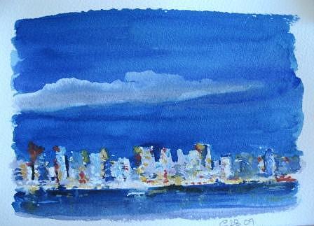 Seascape Painting - Mini Miami Series by Christine Bohrer