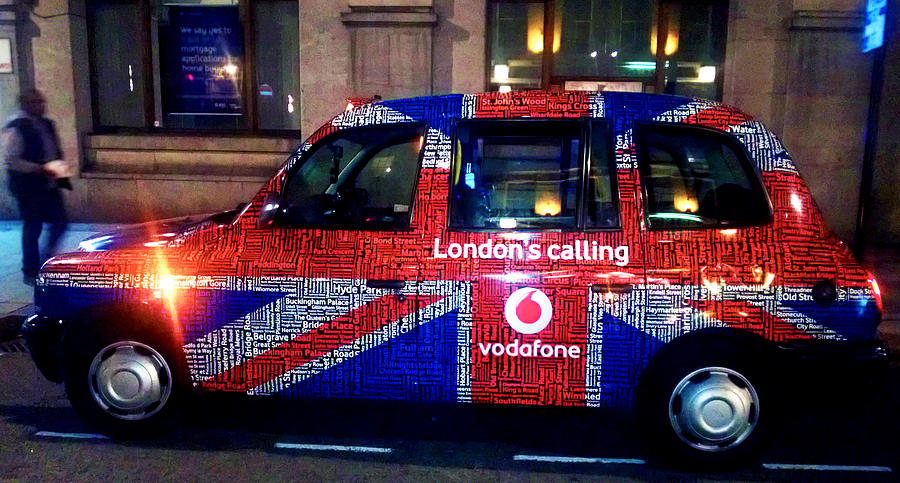 England Photograph - Minicab by Milan Mirkovic