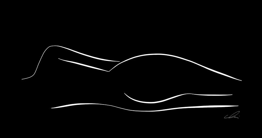 Nude Art Mural  Original Figure Drawing  Minimal Line Drawing Art  Nude Woman Mural  Nude Figure  Nude Woman Illustrations