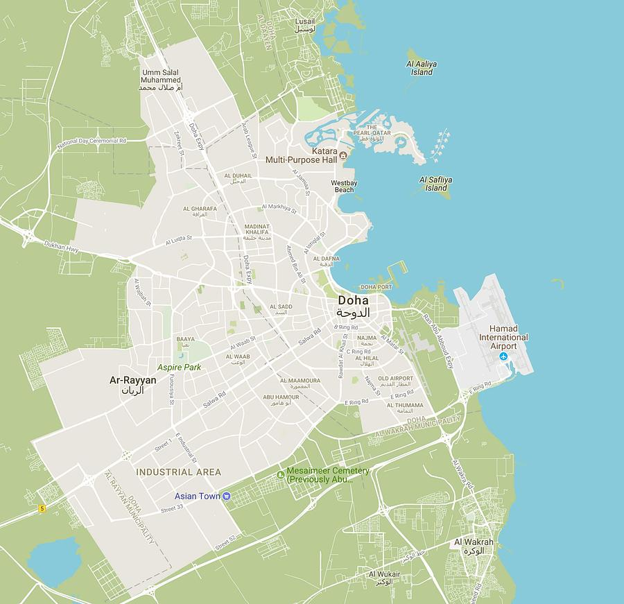 Minimalist Modern Map Of Downtown Alexandria, Egypt 2 Painting by ...