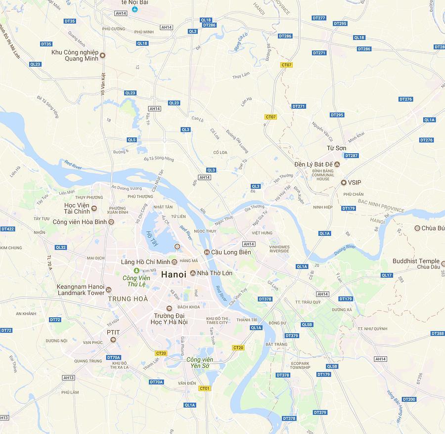 Map Ha Noi.Minimalist Modern Map Of Hanoi Vietnam By Celestial Images